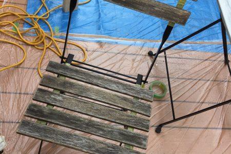 ウッドチェア/ウッドテーブル 塗装工事 before